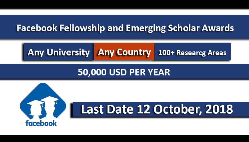 Facebook Fellowship Program and Emerging Scholar Awards