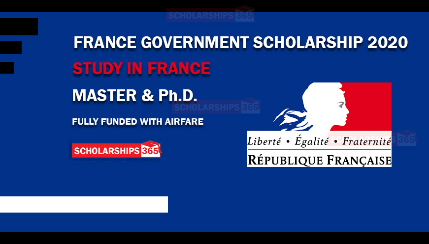 France Government Scholarship 2020-2021 - Fully Funded