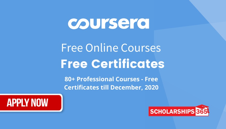 Coursera Free Online Courses with Free Certificates - 80+ Courses