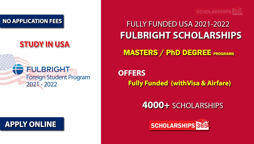 Fulbright Scholarships 2021/2022 in United States - Fully Funded