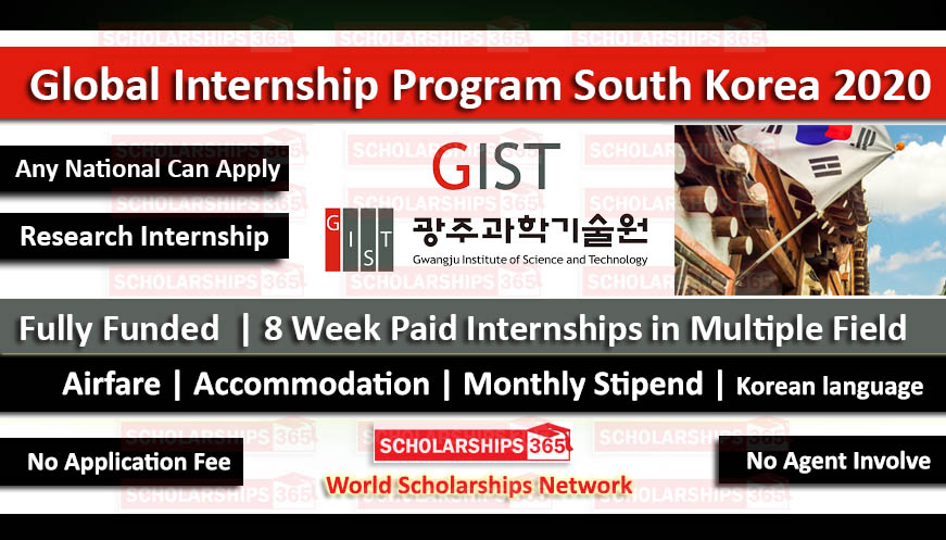 Global Internship Program South Korea 2020 - Fully Funded - Summer School 2020