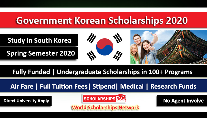 Korean Government Scholarship 2020 For International Students - Fully Funded