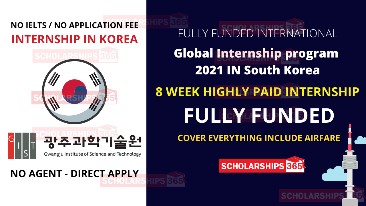 Global Internship program in South Korea 2021 - Fully Funded - Internships in Korea