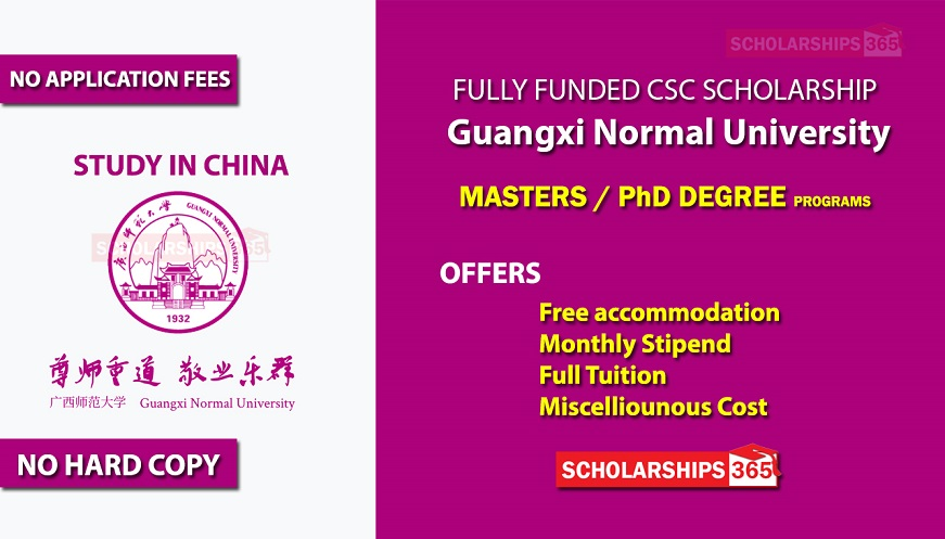 Guangxi Normal University CSC Scholarship 2020 - Fully Funded