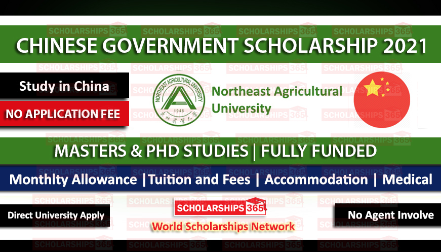 Northeast Agricultural University CSC Scholarship 2021 | Fully Funded | Study in China