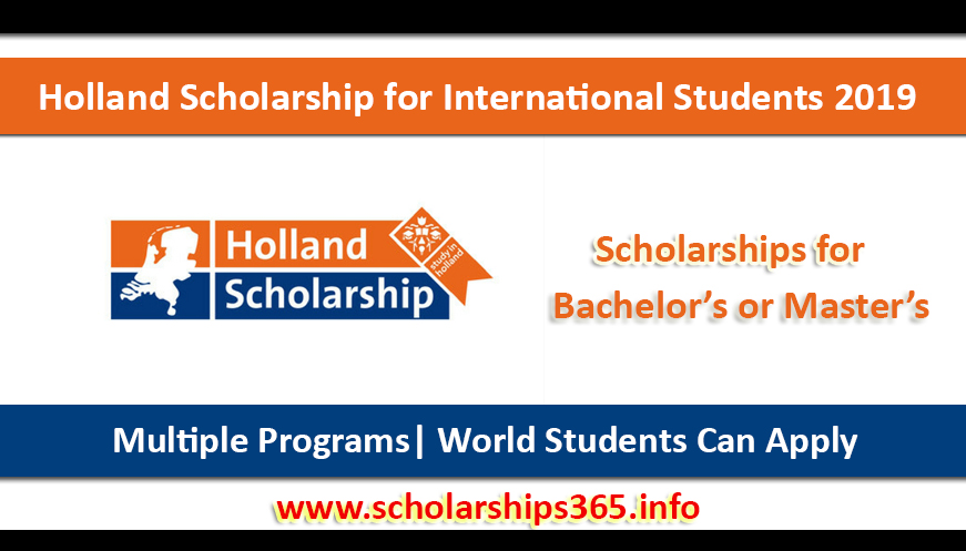 Holland Scholarship 2019 for International Students by Dutch Ministry