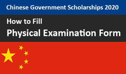 How to fill Physical Examination Form for CSC 2021 - Undergraduate Scholarships 2020-2021