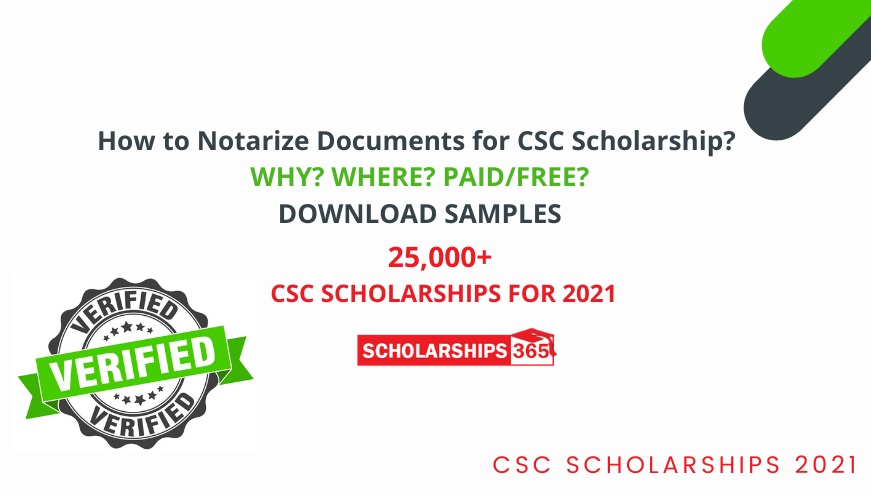 How to Notarize Documents for CSC Scholarship 2021 - Chinese Government Scholarship