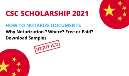 How to Notarize Documents for CSC Scholarship 2021 - China
