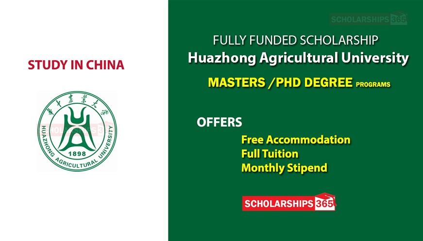 Huazhong Agricultural University Scholarship 2020 - Fully Funded