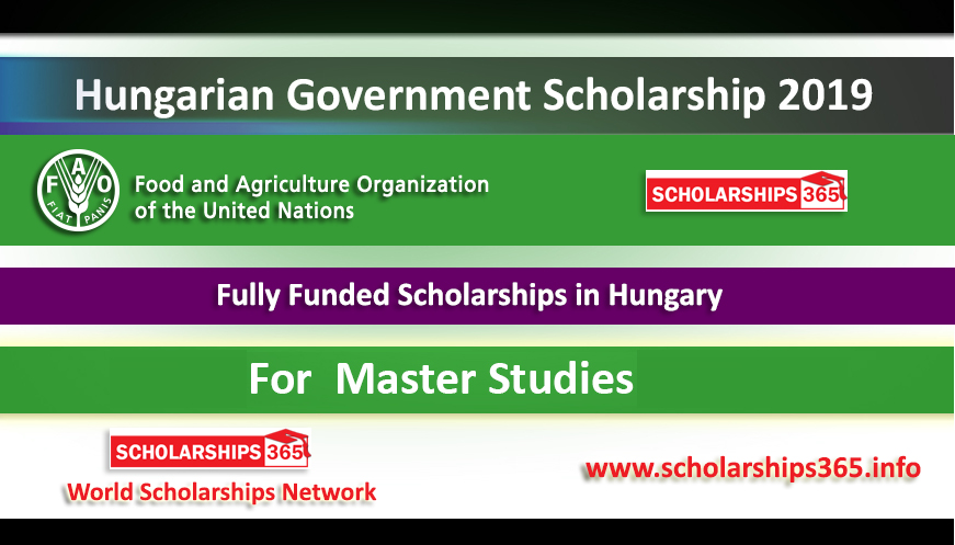 Hungarian Government Scholarship 2019 for Master Study