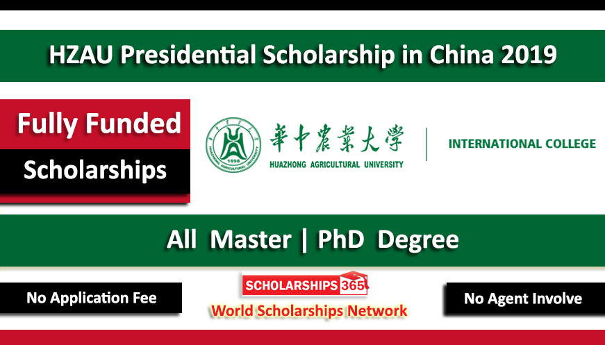 Huazhong Agricultural University Presidential Scholarship 2019 Fully Funded