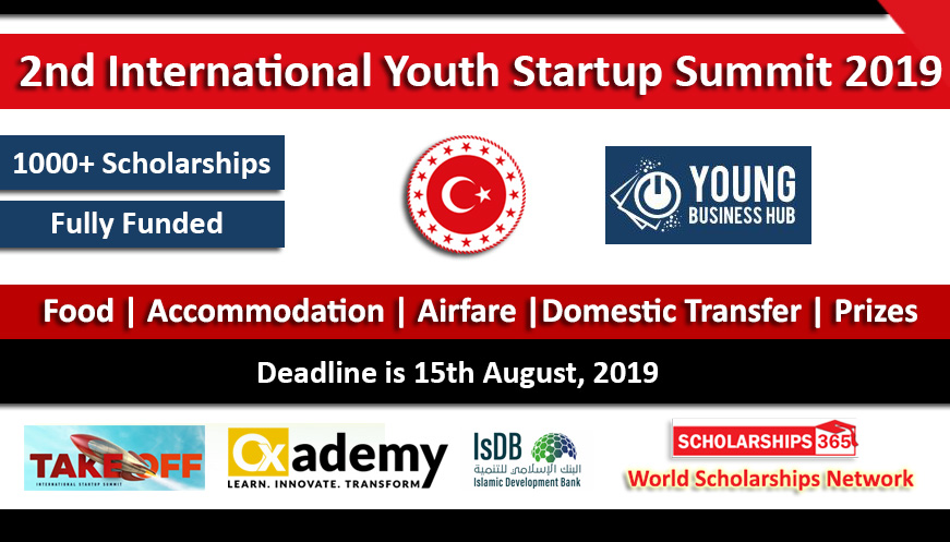 2nd International Youth Startup Summit 2019 in Istanbul, Turkey Fully Funded