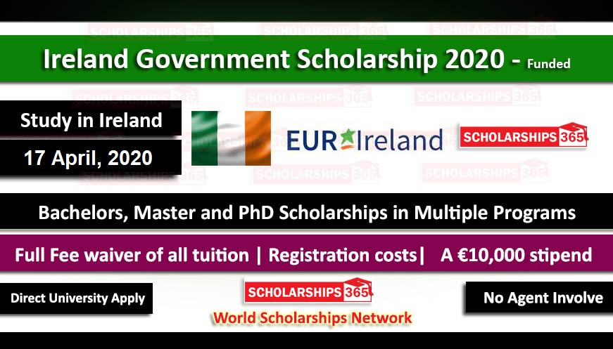 Ireland Government Scholarship 2021 For International Students - Funded