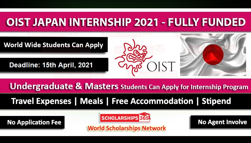 OIST Internship 2021 in Japan | Fully Funded | International Students