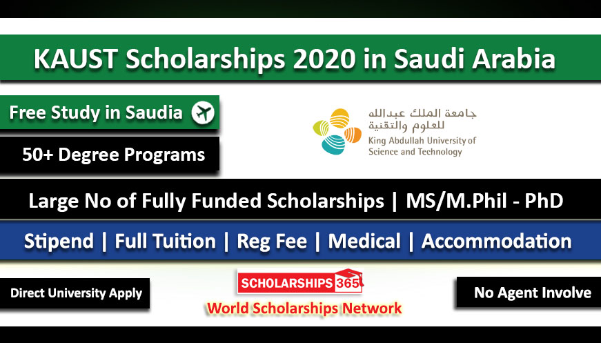 KAUST Scholarships 2021 in Saudi Arabia Fully Funded for International Students