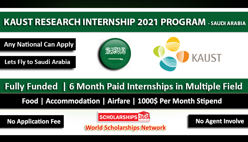 KAUST VSRP Internship Program 2021 in Saudi Arabia Fully Funded