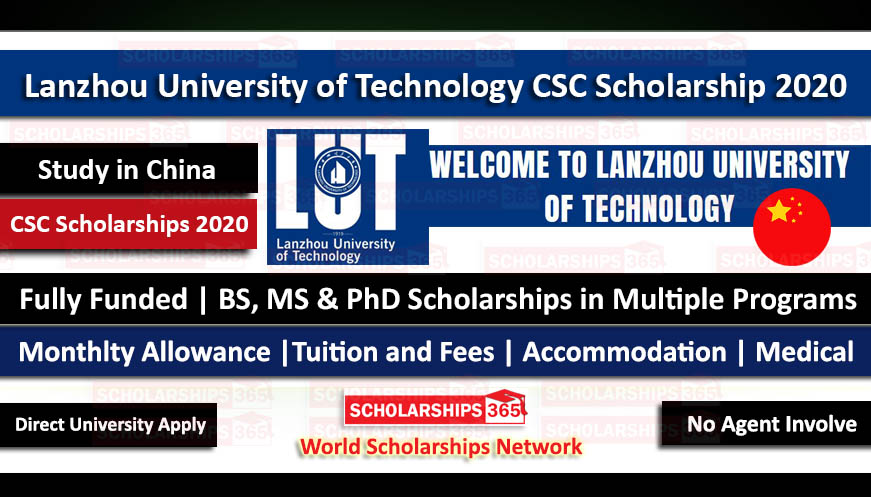 Lanzhou University of Technology CSC Scholarship 2020 Fully Funded