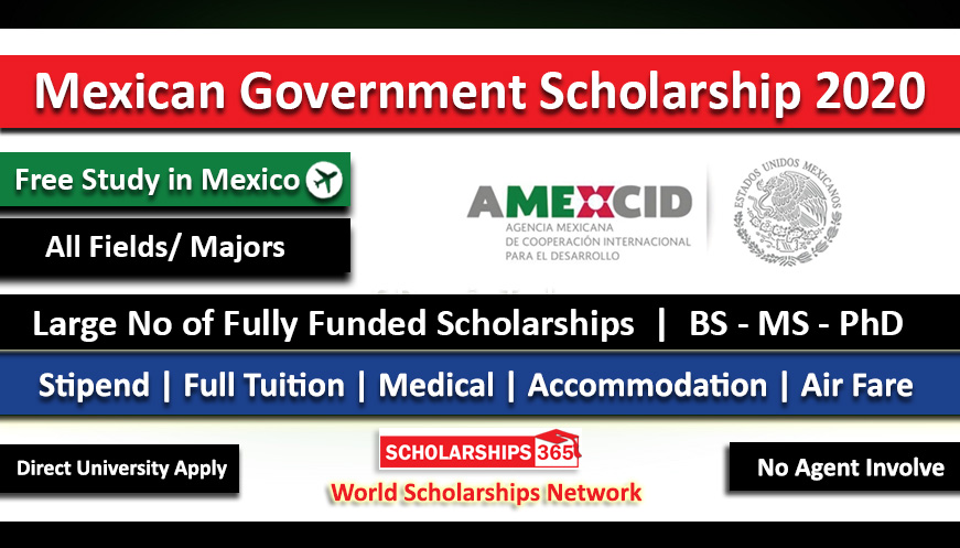 Mexican Government Scholarship 2021 for International Students - Fully Funded