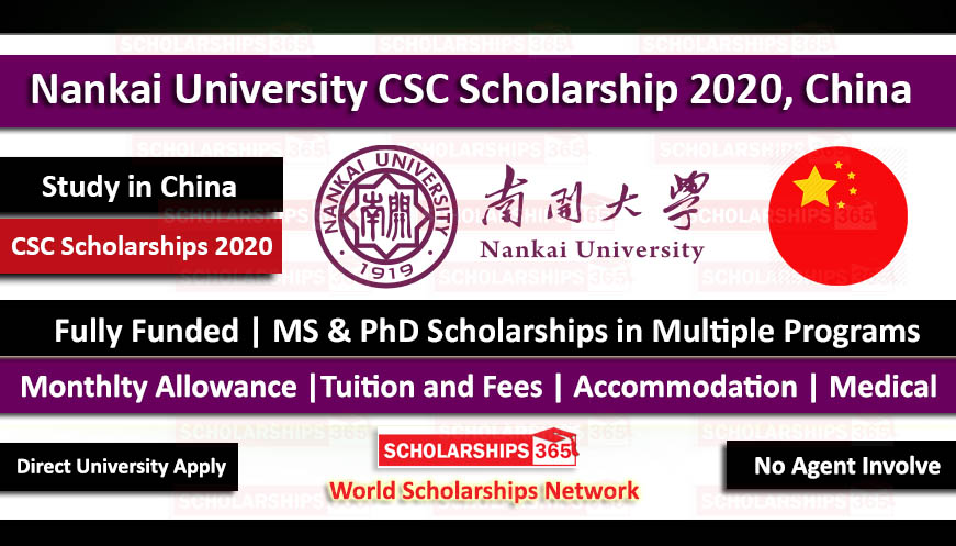 Nankai University CSC Scholarship 2020 - Fully Funded for International Students