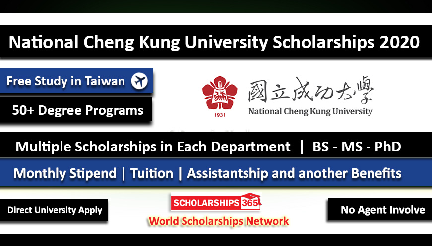 National Cheng Kung University Distinguished International Student Scholarships 2020