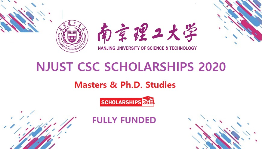 Nanjing University of Science & Technology CSC Scholarship 2020 - Fully Funded