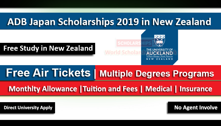 ADB Scholarship Program 2020-2021 in University of Auckland