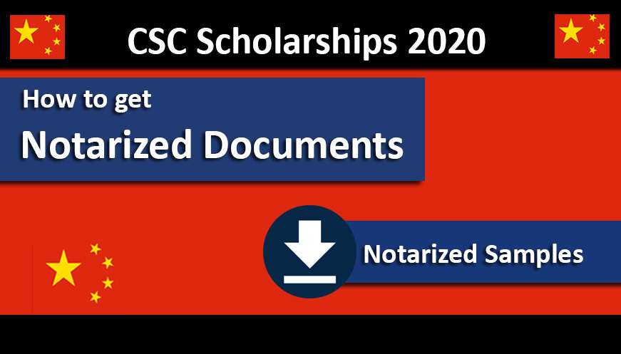 How to Notarized Documents for CSC Scholarships 2020 Process Under Chinese Government
