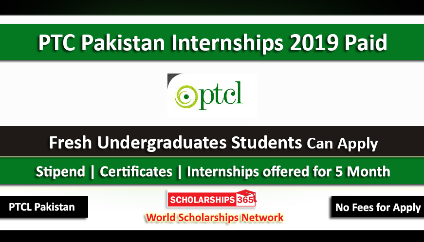 PTCL Internship 2019 in Pakistan for 5 Months - 15000 Monthly Stipend