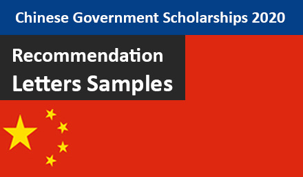 Recommendation Letters Template for CSC Scholarships 2020 - Undergraduate Scholarships 2020-2021