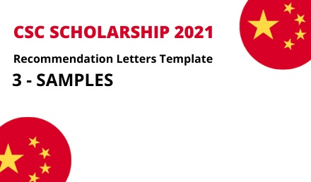 Recommendation Letters Template for CSC Scholarships 2021