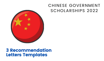 Recommendation Letters Template for CSC Scholarships 2022