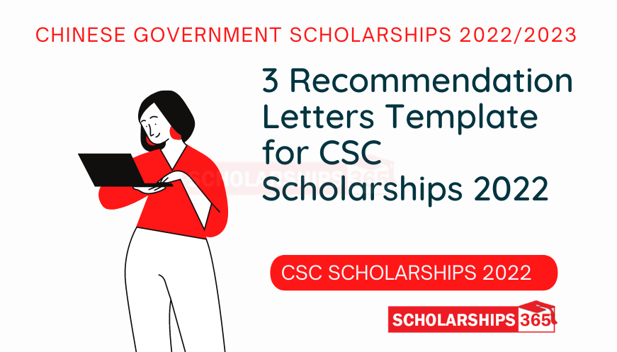 Recommendation Letters Template for CSC Scholarships 2022 - Chinese Government Scholarships