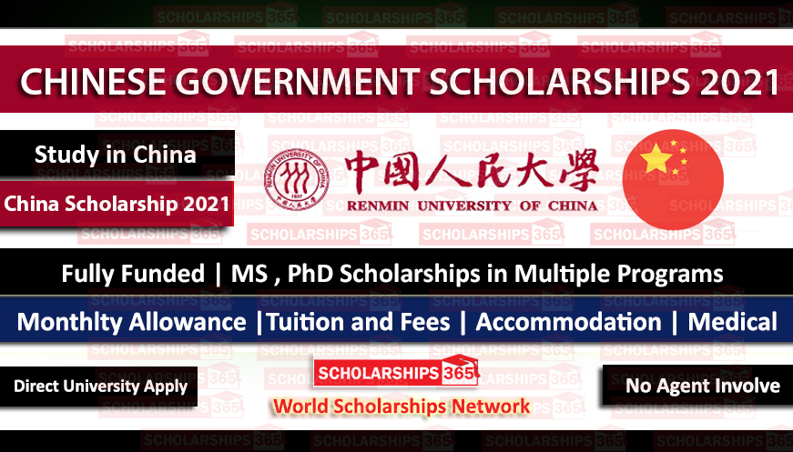 Renmin University of China Scholarship 2021 | CSC Scholarship | Chinese Government Scholarship