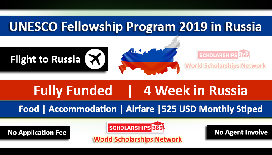 UNESCO Fellowship Program 2019 Russia 2019-2020 Fully Funded