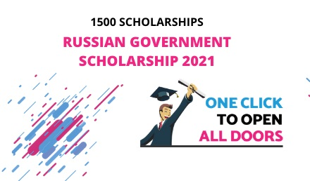 1500 - Russian Government Scholarship 2021 - Study in Russia