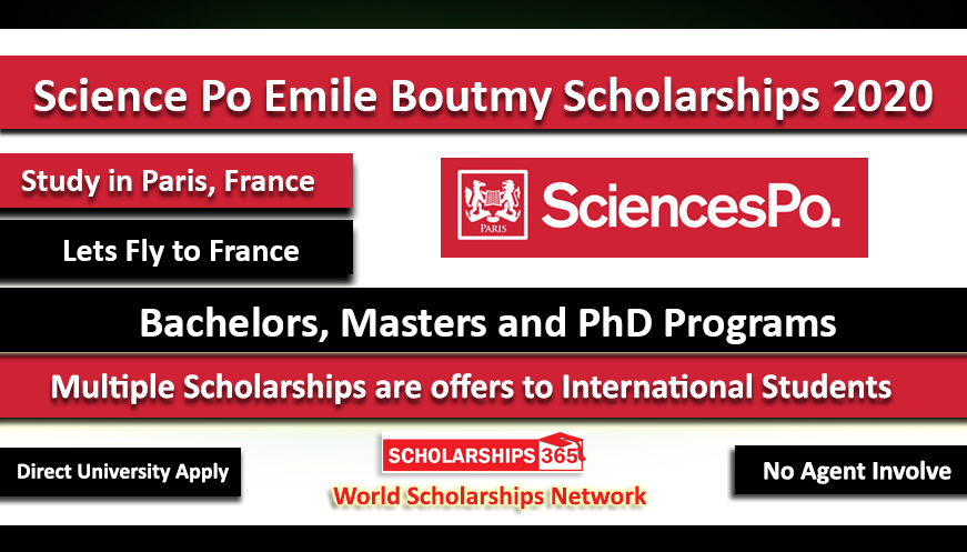 Emile Boutmy Scholarship 2020 in France for International Students at Science Po