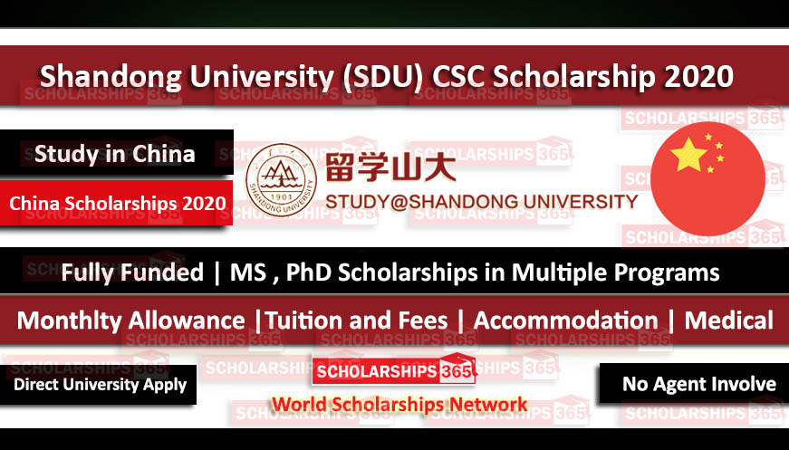 Shandong University CSC Scholarship 2020 - Fully Funded - Chinese Government Scholarship