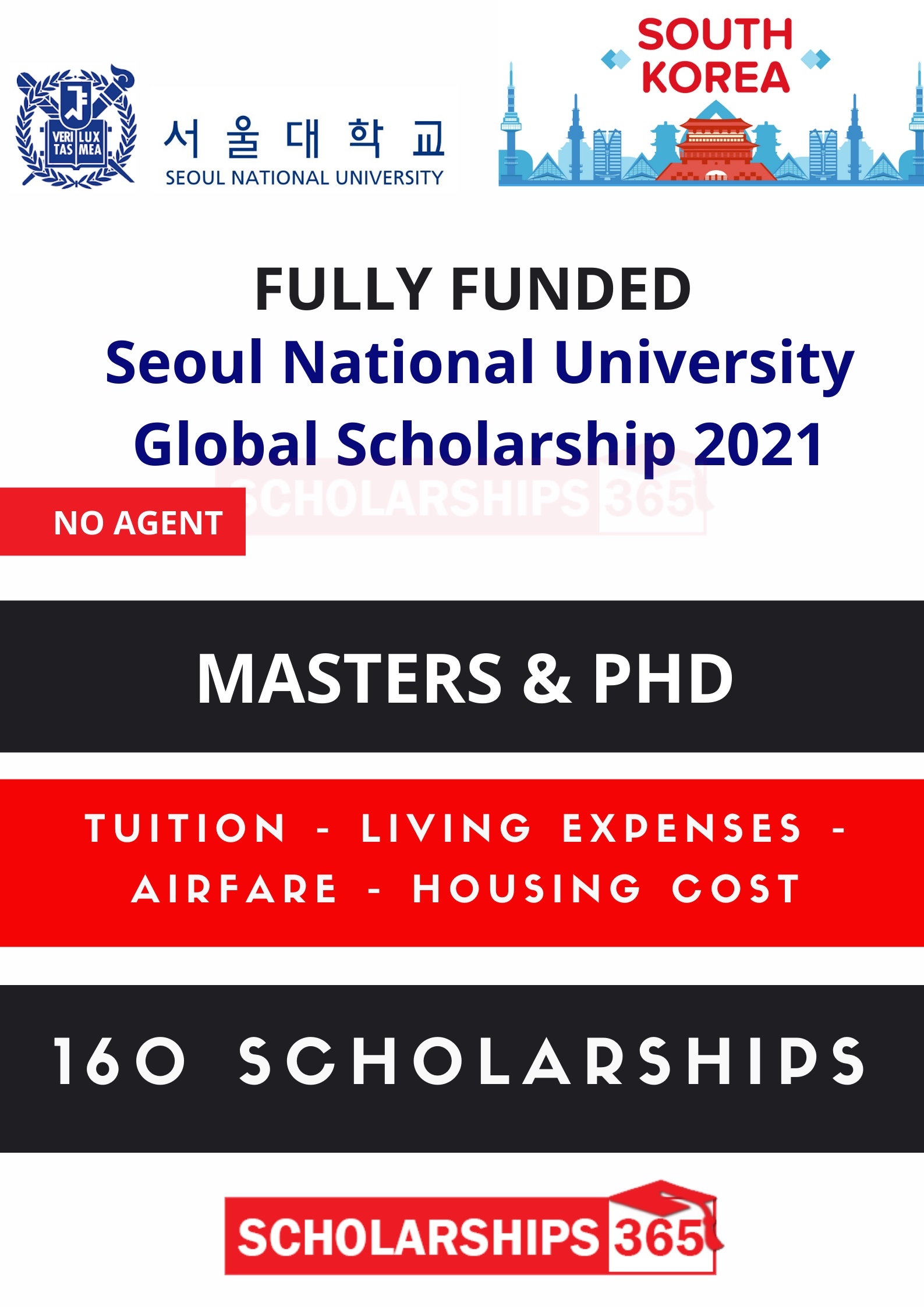 Seoul National University Global Scholarship 2021 in South ...