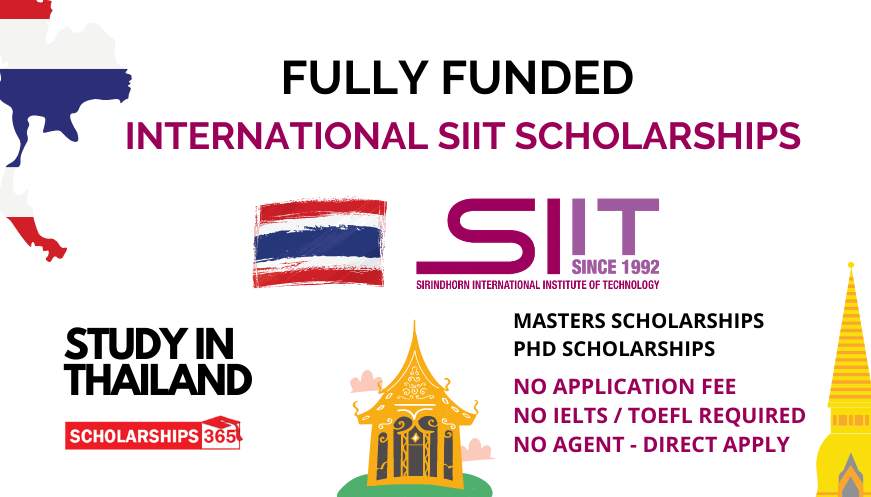 SIIT Scholarship for International Students 2022 in Thailand  - Fully Funded