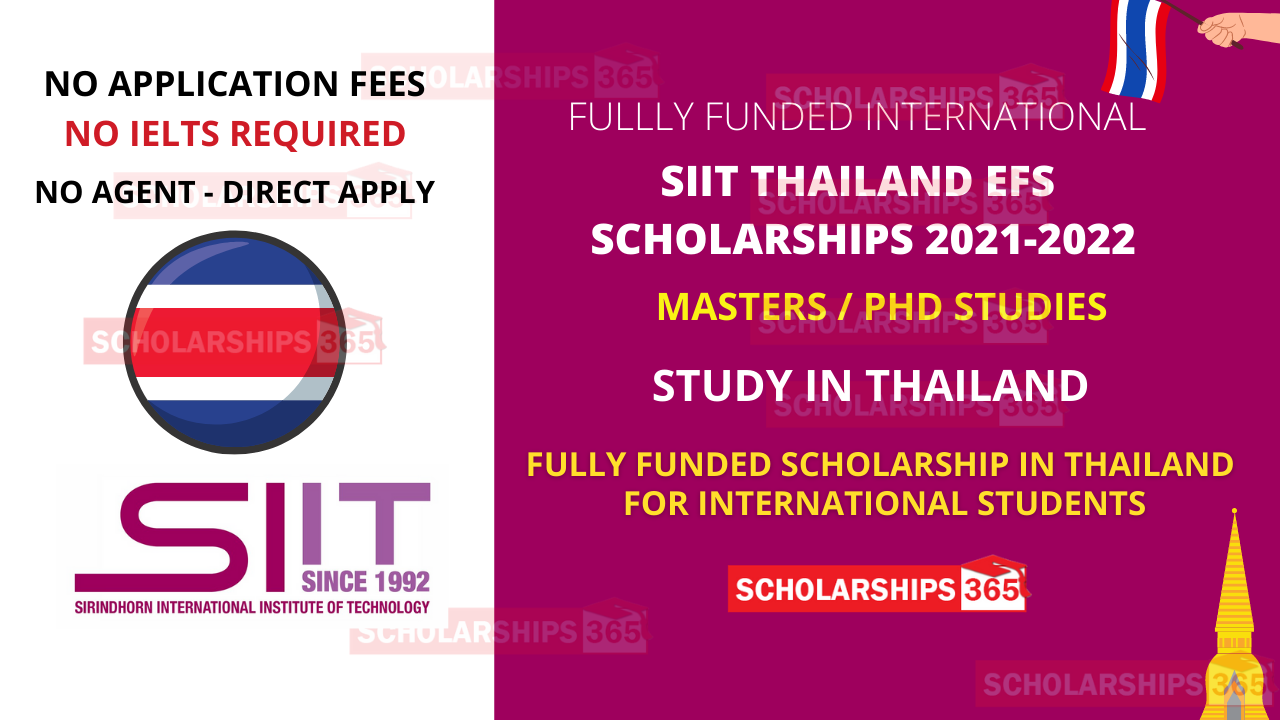 SIIT Scholarship for International Students 2021 in Thailand  - Fully Funded