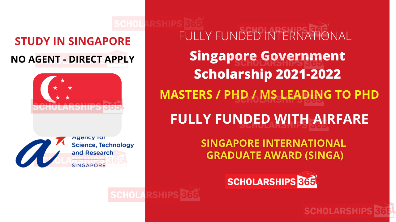 Singapore Government Scholarship 2021 for International Student in Singapore
