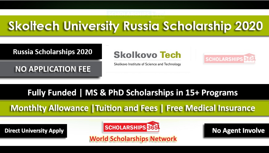 Skoltech Russia Scholarship 2020 Fully Funded For International Students