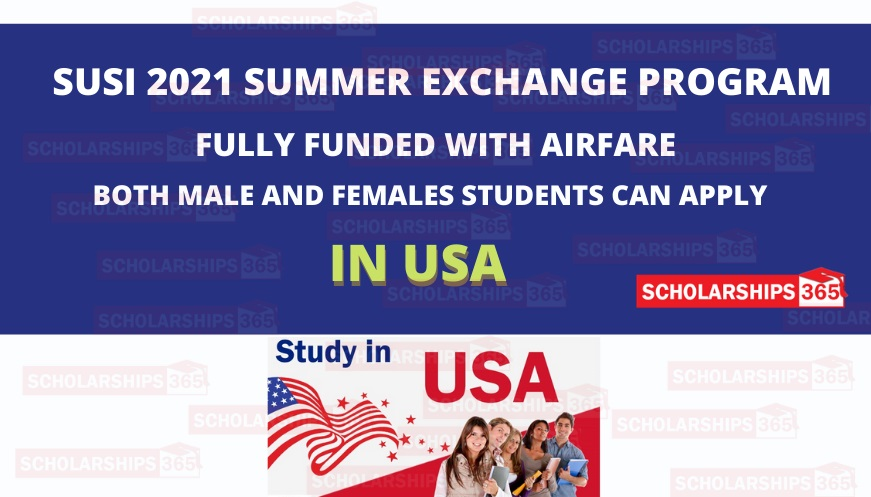 SUSI Summer Exchange Program 2021 in United States of America - Fully Funded