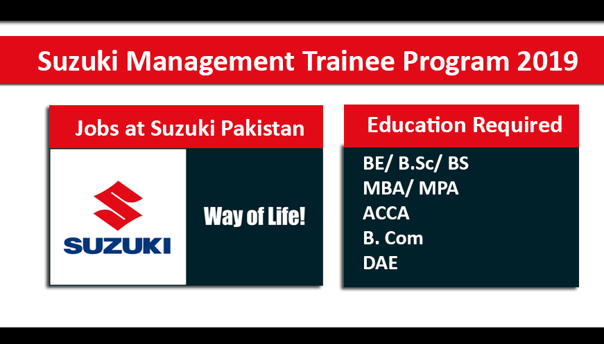 Suzuki Management Trainee Program 2019