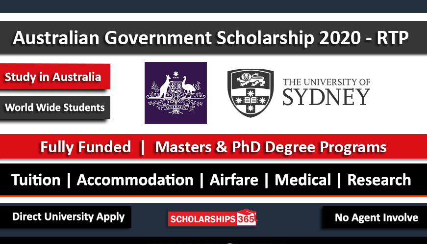 Australian Government Scholarship 2020 Fully Funded - Research Training Program (RTP)