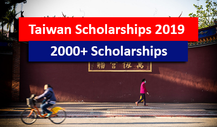 Taiwan Scholarships 2018-19 for international students