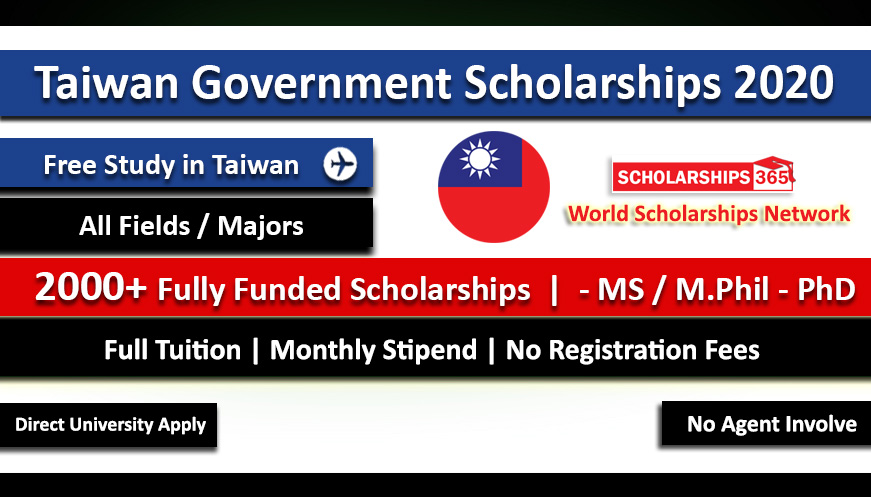 Taiwan Scholarships 2020-2021 for International Students - Fully Funded