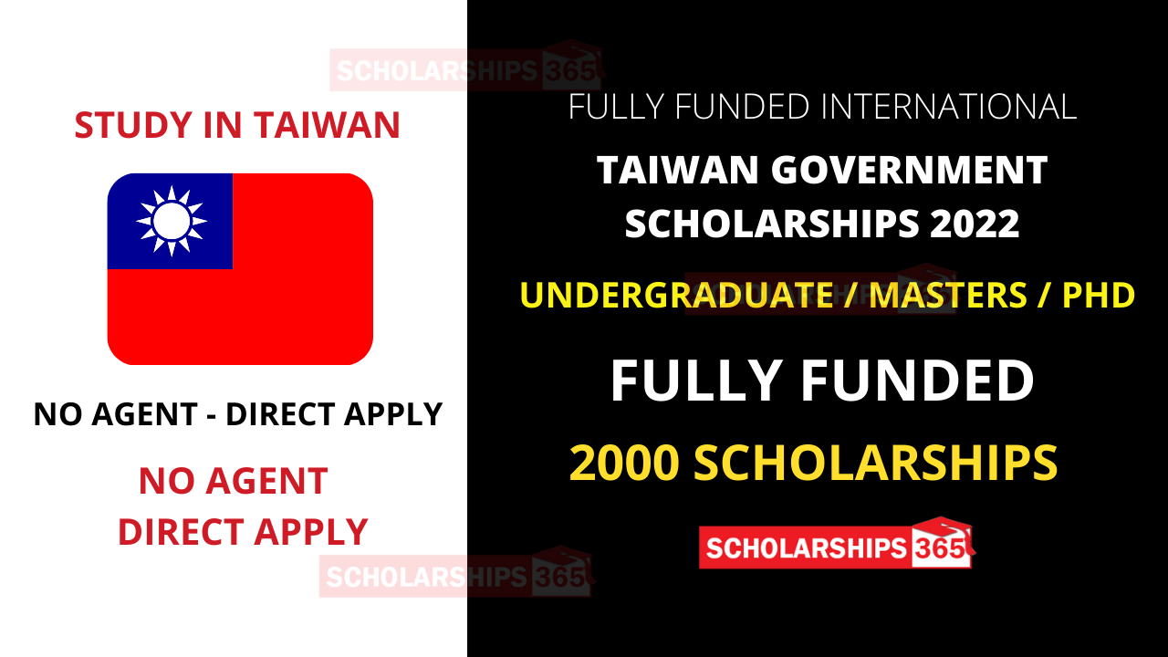 Taiwan Scholarships 2022 for International Students - Fully Funded