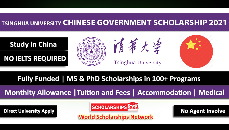 Tsinghua University CSC Scholarship in China 2021 - Fully Funded